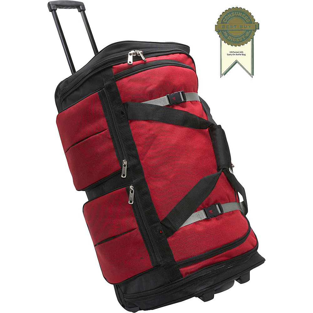 Athalon 15 Pocket 29 Wheeling Duffel Red Athalon Rolling Duffels