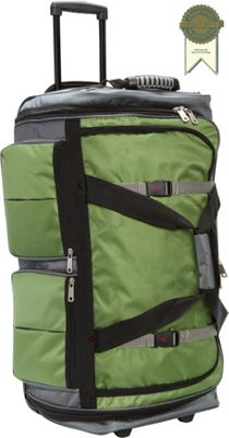 "Image of Athalon 15-Pocket 29"" Wheeling Duffel Grass/Gray - Athalon Large Rolling Luggage"