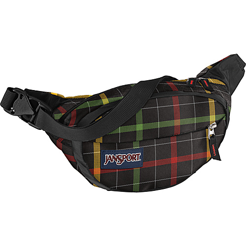 JanSport Fifth Avenue Black/Rasta London Plaid - JanSport Waist Packs & Fanny Packs - Backpacks, Waist Packs & Fanny Packs