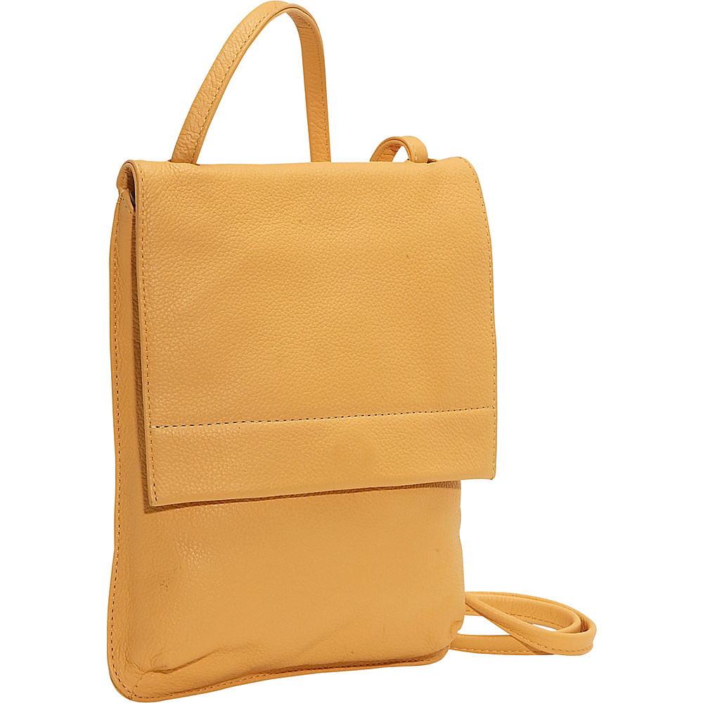 J. P. Ourse & Cie. Yellowstone Flat Compact - Butter - Handbags, Leather Handbags