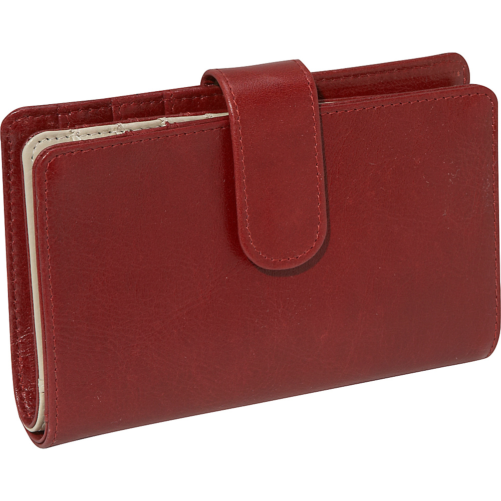 Derek Alexander Multi Comp Clutch - Red/Bone - Women's SLG, Women's Wallets