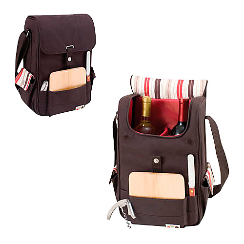 Picnic Time Duet Wine and Cheese Tote - Moka