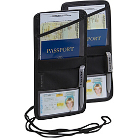 ID and Boarding Pass Holder- 2 Pack Black