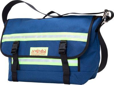 Manhattan Portage Reflective Bike Messenger Bag- Medium Navy - Manhattan Portage Messenger Bags