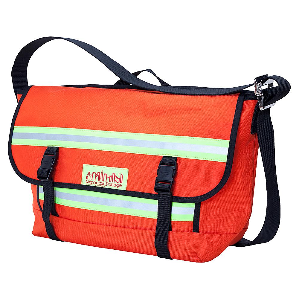 Manhattan Portage Reflective Bike Messenger Bag- Medium Orange - Manhattan Portage Messenger Bags