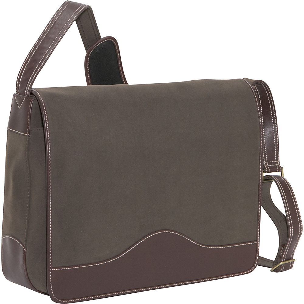 Bellino The Commander Leather Messenger - Brown - Work Bags & Briefcases, Messenger Bags
