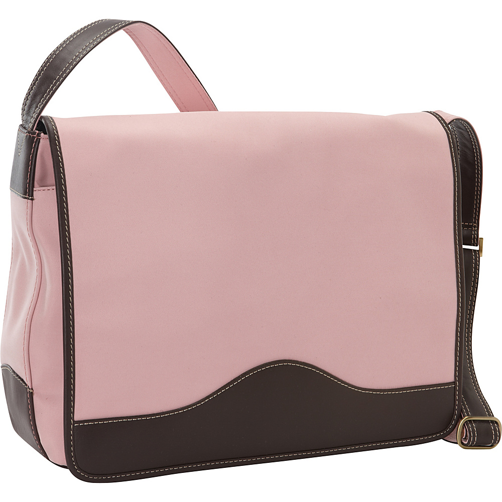 Bellino The Commander Messenger Rose Pink - Bellino Messenger Bags