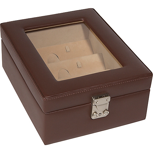 Royce Leather Eyeglass Box - 4 Slots - Coco