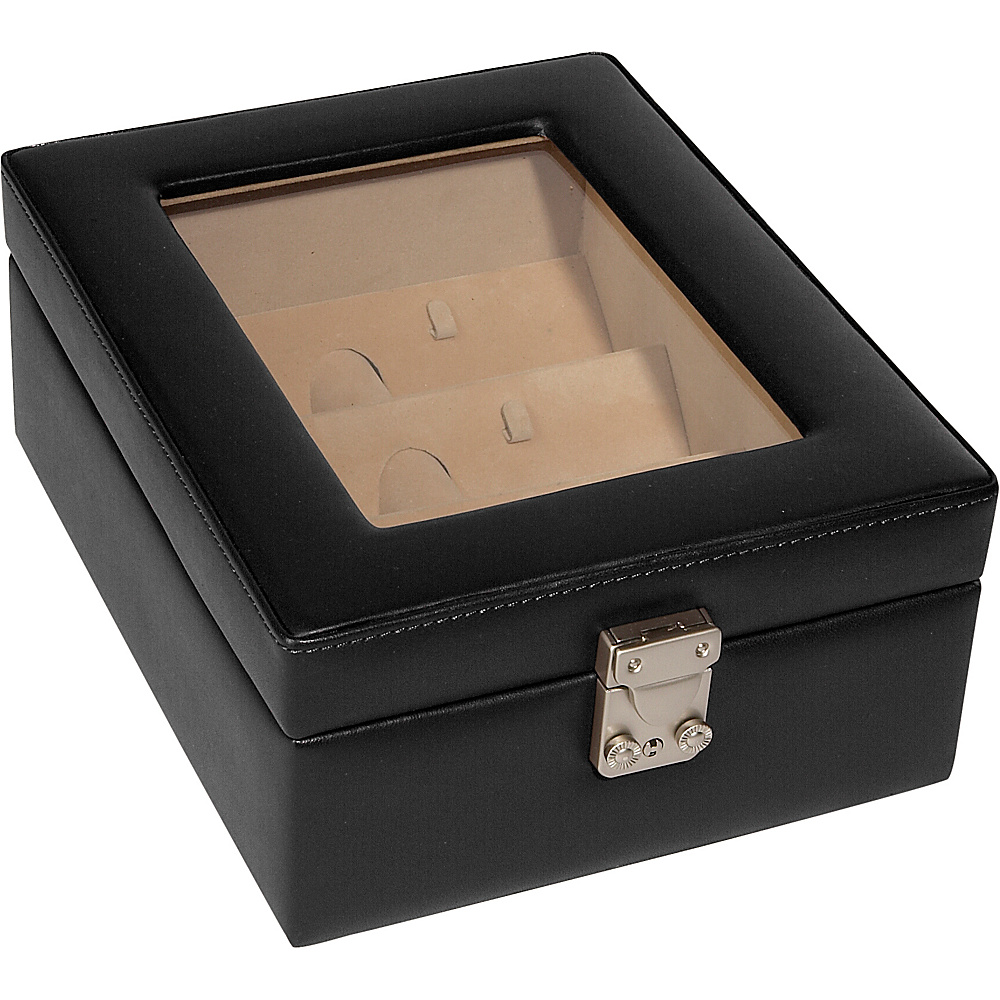 Royce Leather Eyeglass Box - 4 Slots - Black - Work Bags & Briefcases, Business Accessories