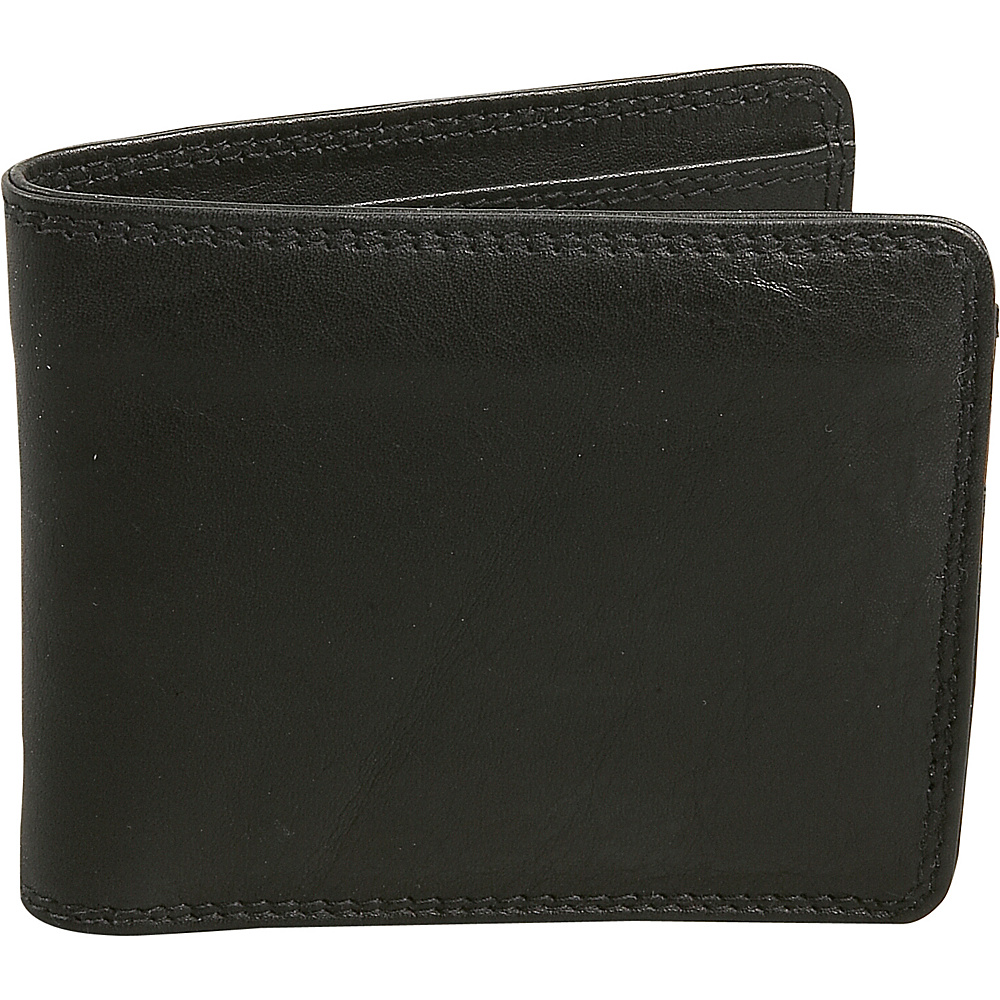 Derek Alexander Credit Card Wallet - Black and Brandy - Work Bags & Briefcases, Men's Wallets
