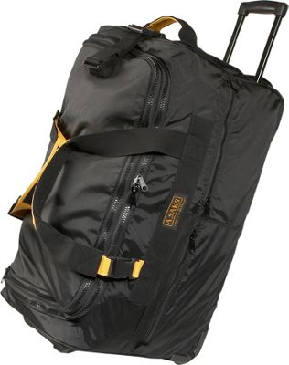 "Image of A. Saks EXPANDABLE 25"" Rolling Trolley Duffel - Black"
