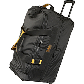 EXPANDABLE 25'' Rolling Trolley Duffel Black