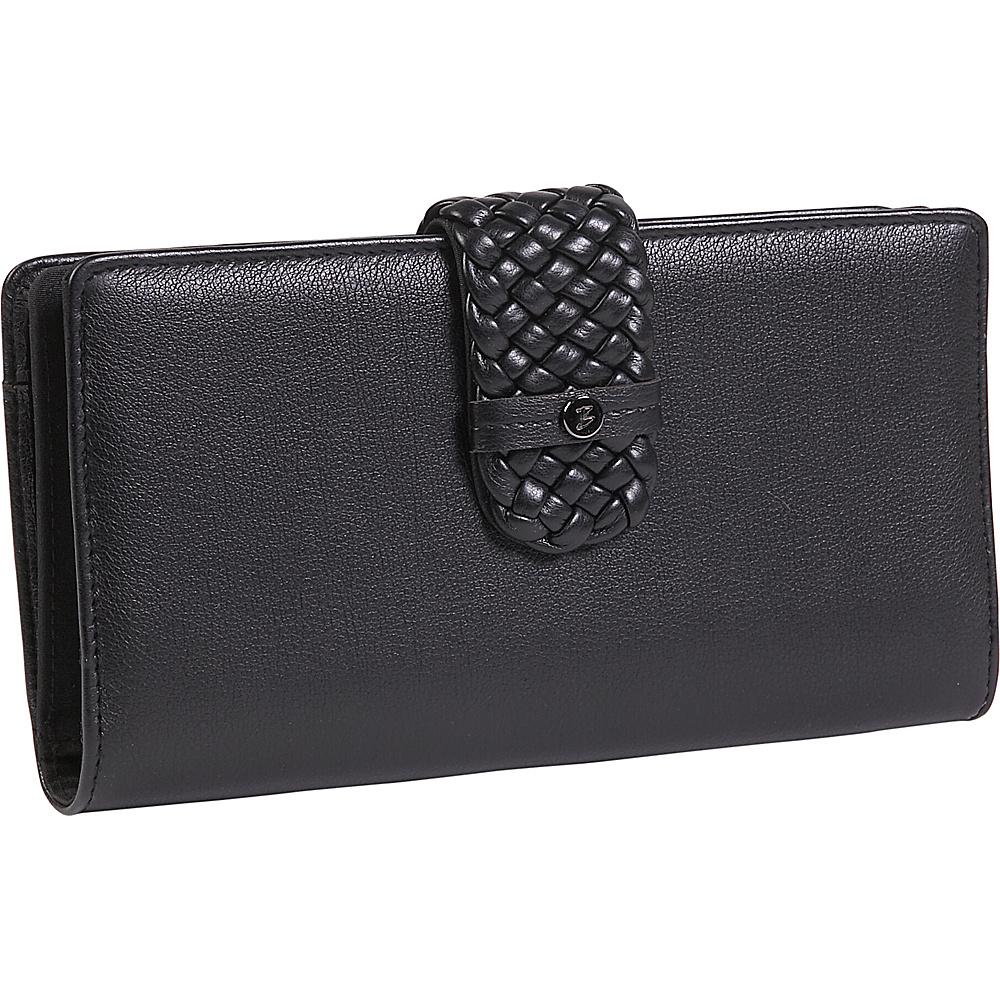 Buxton Hailey-Super Wallet Black - Buxton Womens Wallets - Women's SLG, Women's Wallets