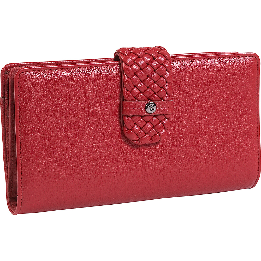 Buxton Hailey-Super Wallet - Red
