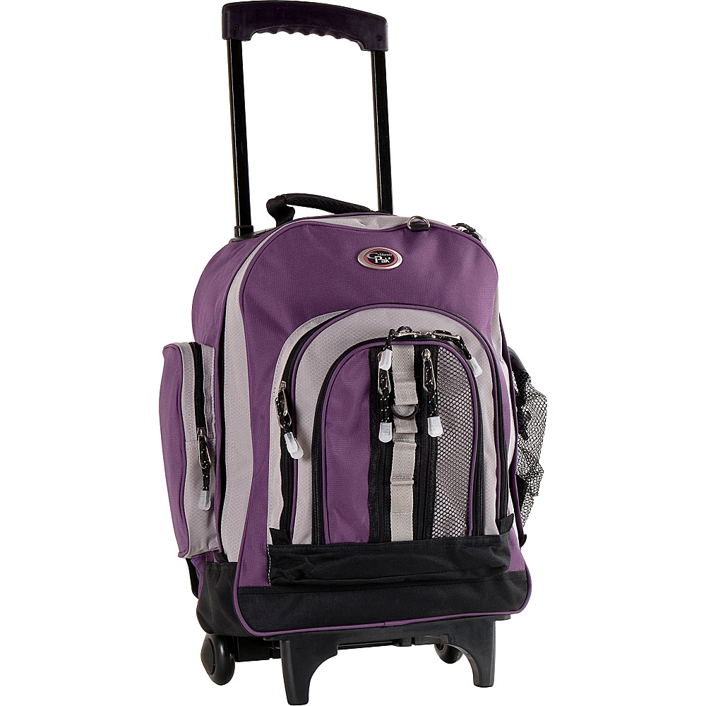 "CalPak Awestruck 18"" Rolling Backpack Purple/Baby Lavender - CalPak Wheeled Backpacks"