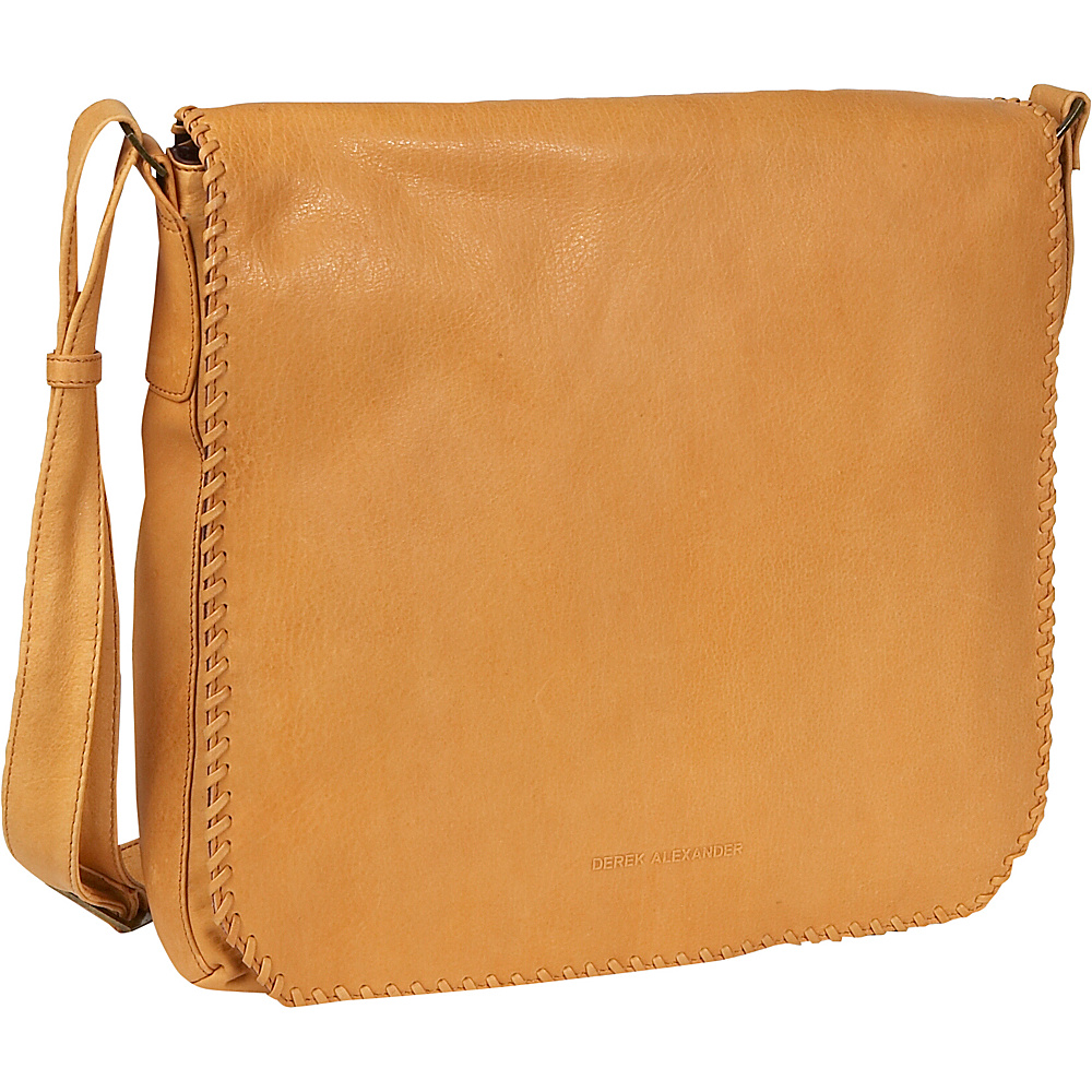Derek Alexander Flash Back Large Messenger Bag - Handbags, Leather Handbags