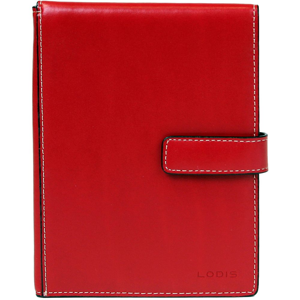 Lodis Audrey Passport Wallet with Ticket Flap - Red - Travel Accessories, Travel Wallets