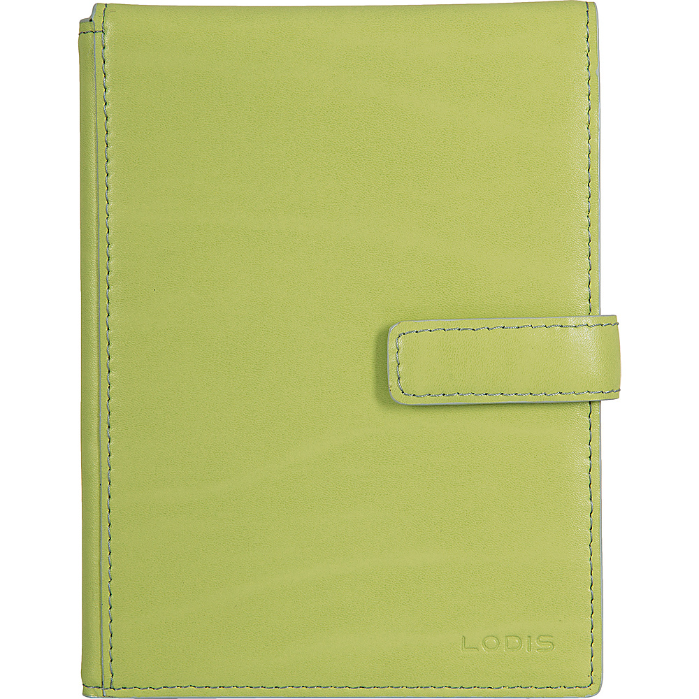 Lodis Audrey Passport Wallet with Ticket Flap - Discontinued Colors Lime/Dove - Lodis Travel Wallets - Travel Accessories, Travel Wallets