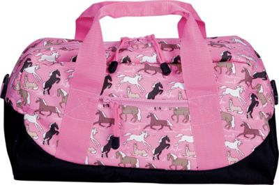 Wildkin Horses in Pink Duffel Bag - Horses in Pink