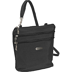 Zipper Bagg Crinkle Nylon Black/Khaki