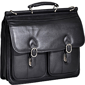 Hazel Crest Leather 15.4'' Laptop Case Black