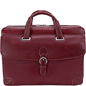 Vernazza Collection Como Laptop Brief Cherry Red