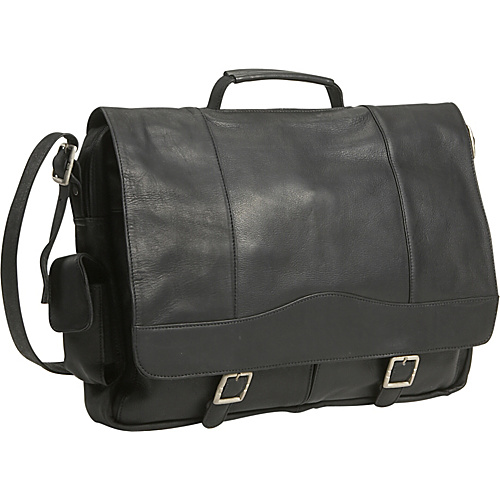David King & Co. Porthole Briefcase Simple Black - David King & Co. Non-Wheeled Business Cases