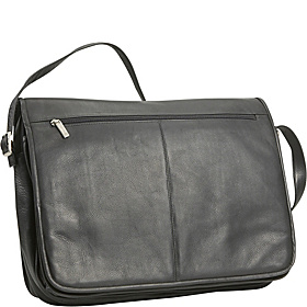 3 Compartment Messenger Bag Black