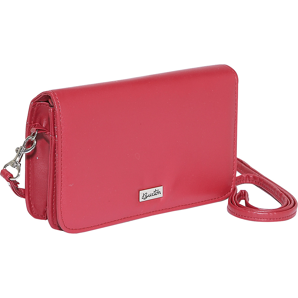 Buxton Check Clutch Mini Bag On A String - Red - Women's SLG, Women's Wallets