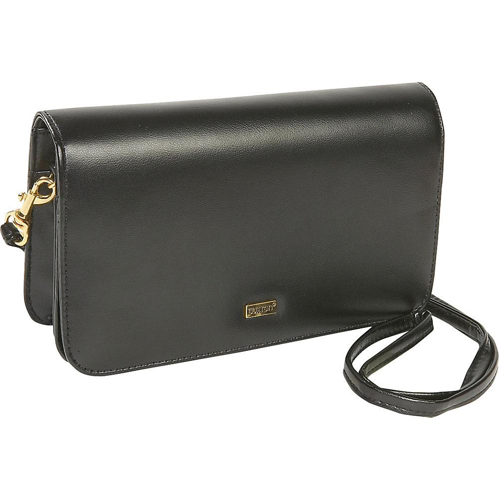 Buxton Check Clutch Mini Bag On A String Black - Buxton Women's Wallets