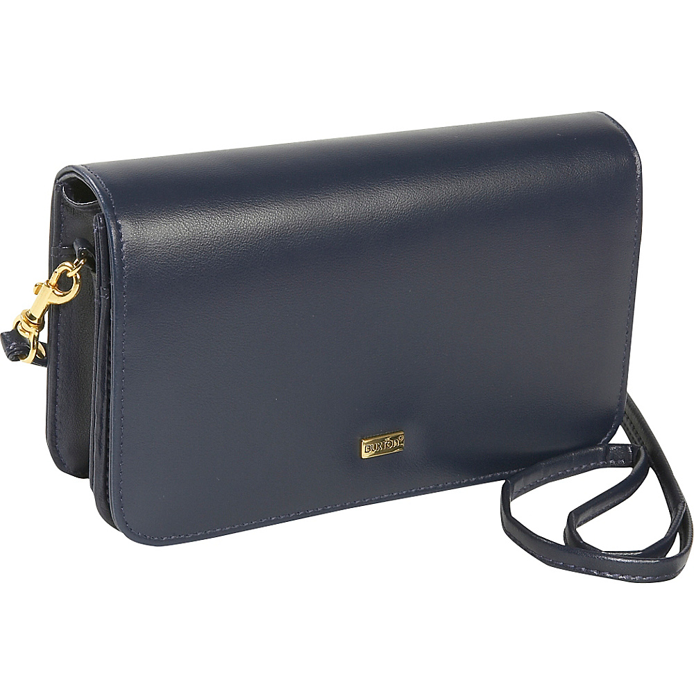 Buxton Check Clutch Mini Bag On A String - Navy - Women's SLG, Women's Wallets