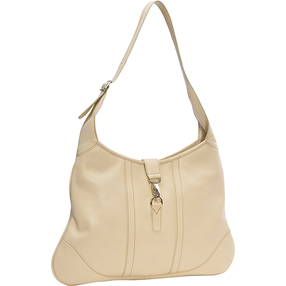 Piel Medium Open Hobo - Ivory - Handbags, Leather Handbags