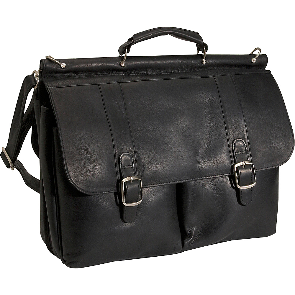 David King & Co. Dowel Laptop Briefcase - Black - Work Bags & Briefcases, Non-Wheeled Business Cases