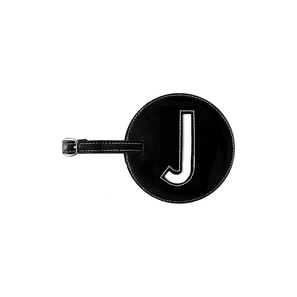 pb travel Initial J Luggage Tags Set of 2 Black pb travel Luggage Accessories