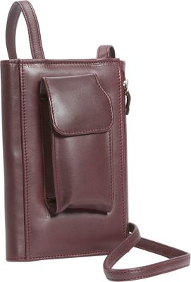 Leatherbay Leather Purse w/Strap - Burgundy