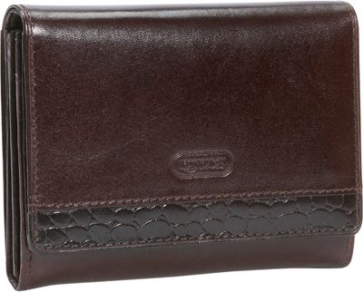 Leatherbay Accordian Leather Wallet w/Croc Accents