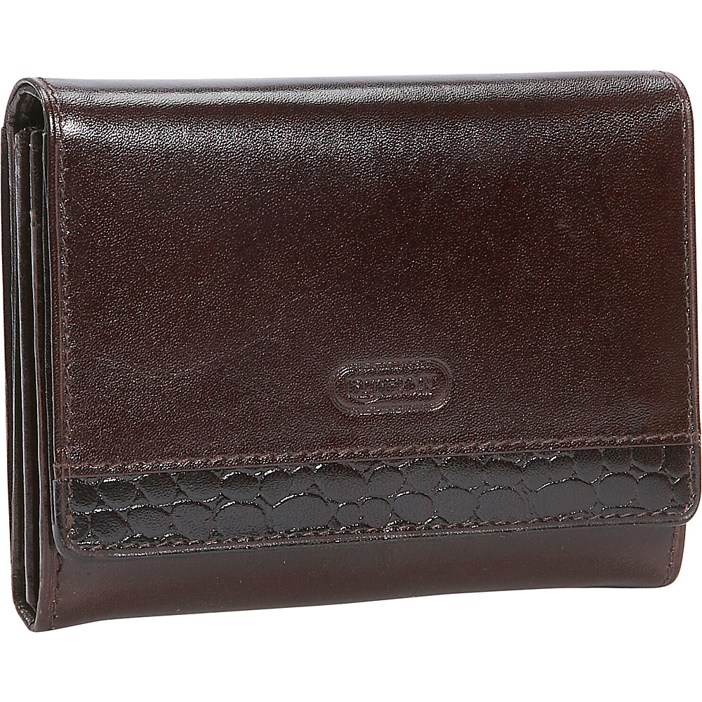 Leatherbay Accordian Leather Wallet w/Croc Accents - Women's SLG, Women's Wallets