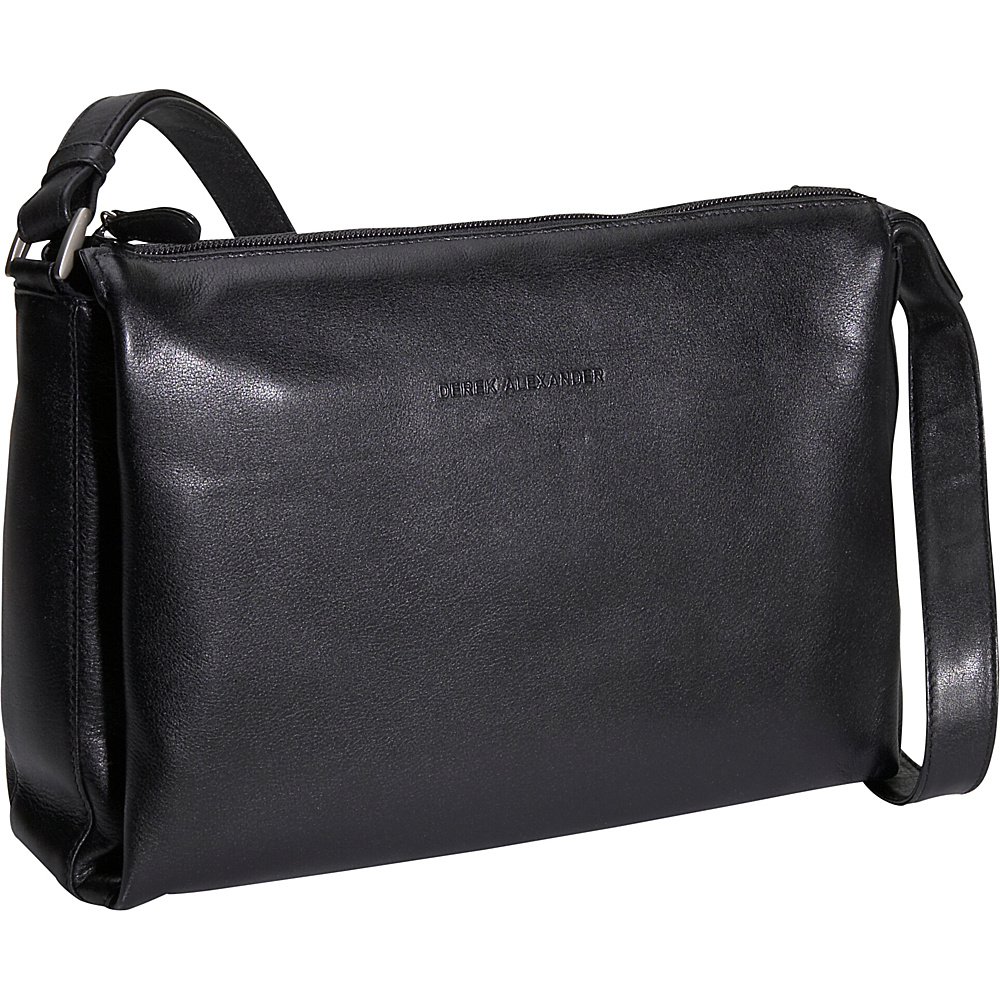 Derek Alexander Classic Top Zip Handbag - Black - Handbags, Leather Handbags