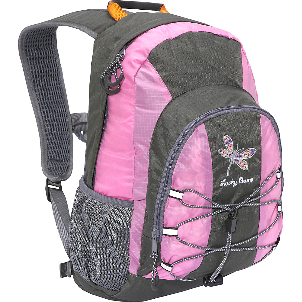Lucky Bums Dragonfly 15 w/ Dragonfly Embroidery (Kids 9-14 years) Pink - Lucky Bums Everyday Backpacks