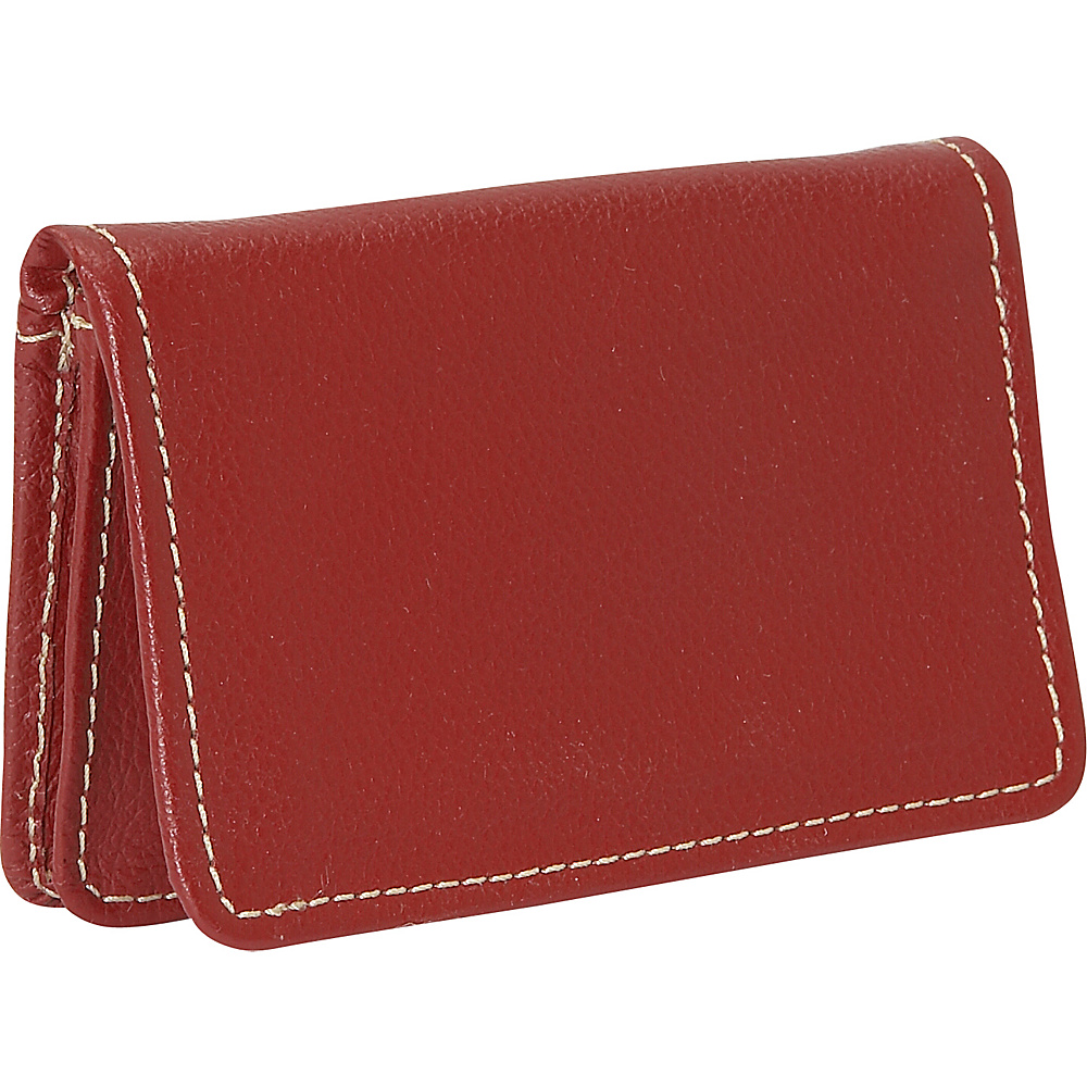 Piel Business Card/I.D. Case - Red - Work Bags & Briefcases, Business Accessories