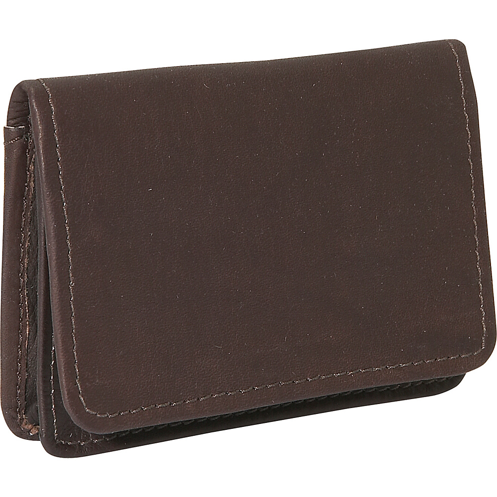 Piel Business Card/I.D. Case - Chocolate - Work Bags & Briefcases, Business Accessories