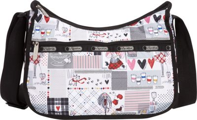 LeSportsac Classic Hobo Convertible Shoulder Bag Warm Wishes - LeSportsac Fabric Handbags