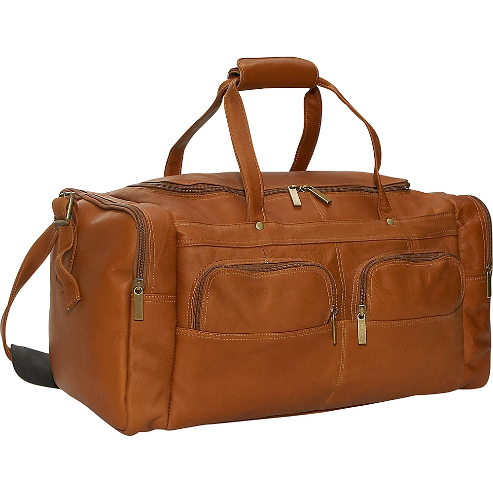 David King & Co. Multi Pocket 19.5 Duffel Tan - David King & Co. Travel Duffels - Duffels, Travel Duffels