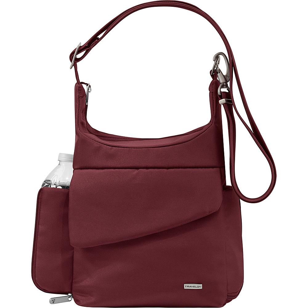 Travelon Anti-Theft Classic Messenger Bag - Exclusive Colors Burgundy - Exclusive Color - Travelon Fabric Handbags - Handbags, Fabric Handbags
