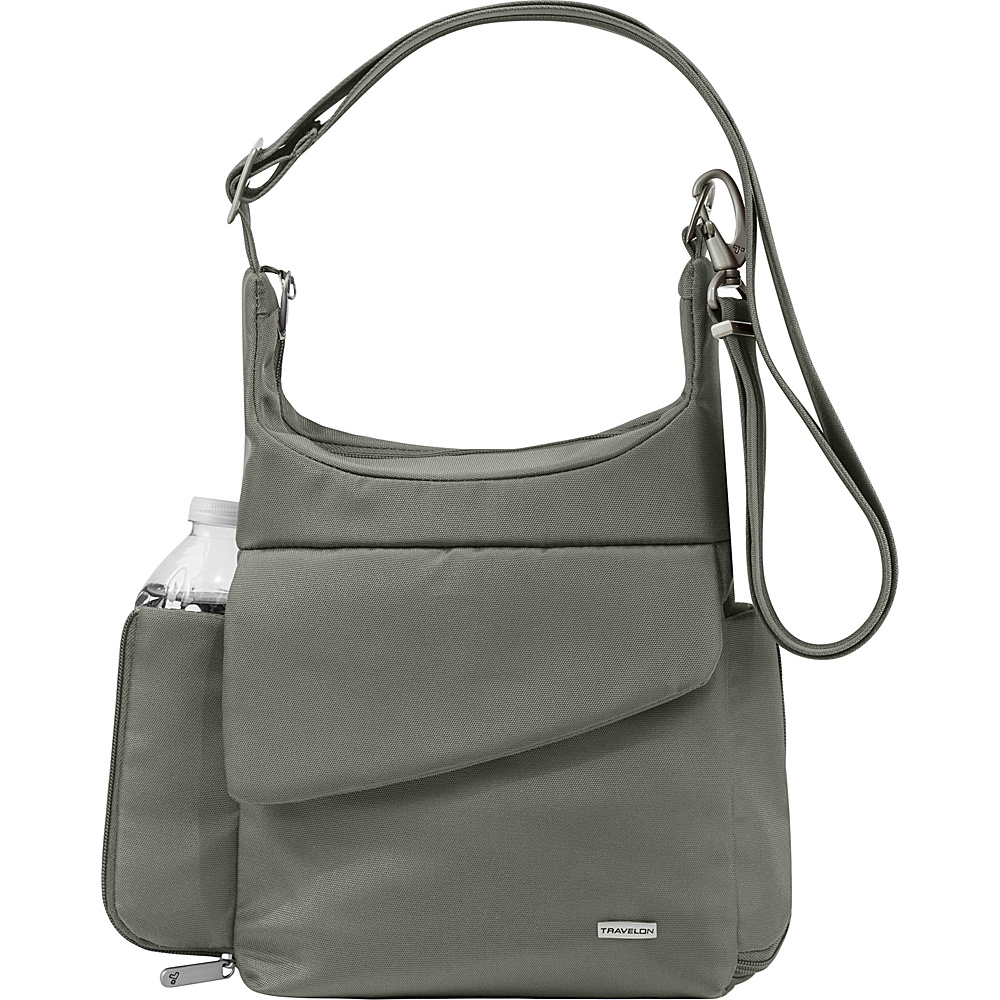 Travelon Anti-Theft Classic Messenger Bag - Exclusive Colors Pewter - Exclusive Color - Travelon Fabric Handbags - Handbags, Fabric Handbags
