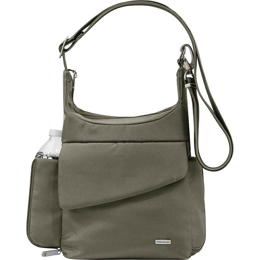 Travelon Anti-Theft Classic Messenger Bag - Exclusive Colors Charcoal - Exclusive Color - Travelon Fabric Handbags - Handbags, Fabric Handbags