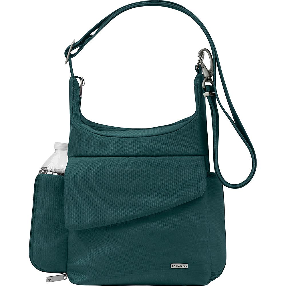 Travelon Anti-Theft Classic Messenger Bag - Exclusive Colors Peacock - Exclusive Color - Travelon Fabric Handbags - Handbags, Fabric Handbags