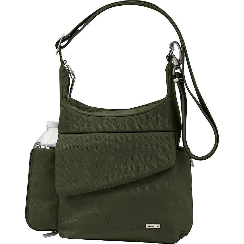 Travelon Anti-Theft Classic Messenger Bag - Exclusive Colors Olive- Exclusive Color - Travelon Fabric Handbags - Handbags, Fabric Handbags