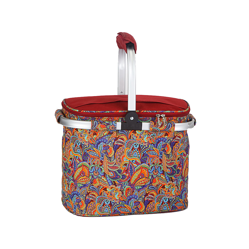 Picnic Plus Shelby Collapsible Cooler - Jewel Paisley - Outdoor, Outdoor Coolers
