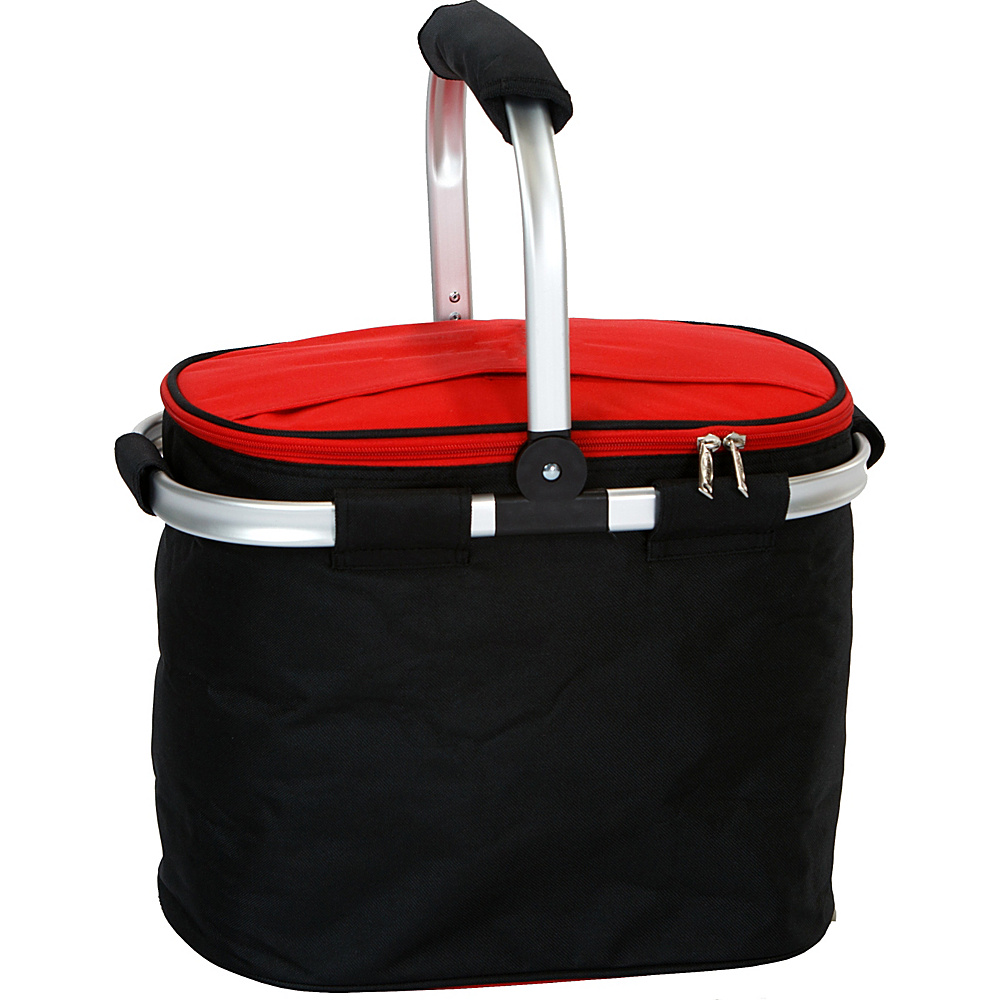 Picnic Plus Shelby Collapsible Market Cooler Tote Black/Red - Picnic Plus Outdoor Coolers - Outdoor, Outdoor Coolers